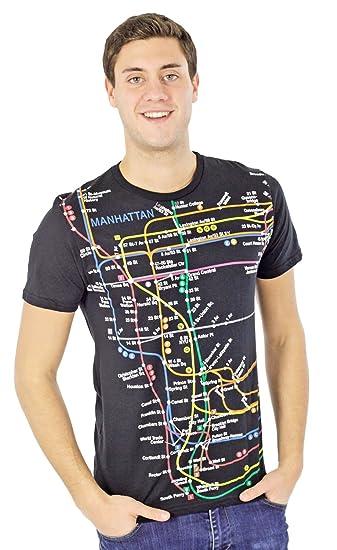 Nyc Subway Map T Shirts.Amazon Com Nyc Subway Line Manhattan Map T Shirt Black Clothing