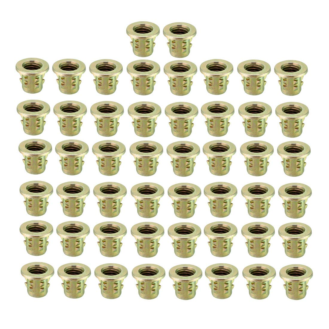 uxcell M8x13mm Wood Insert E-Nut Interface Screws Furniture Fittings Zinc Alloy 50pcs by uxcell
