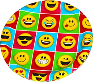 Iconikal Paper Dinner Plates, Emoji Faces, 60-Count