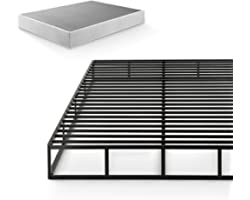 ZINUS Quick Lock Metal Smart Box Spring / 9 Inch Mattress Foundation / Strong Metal Structure / Easy Assembly, Queen