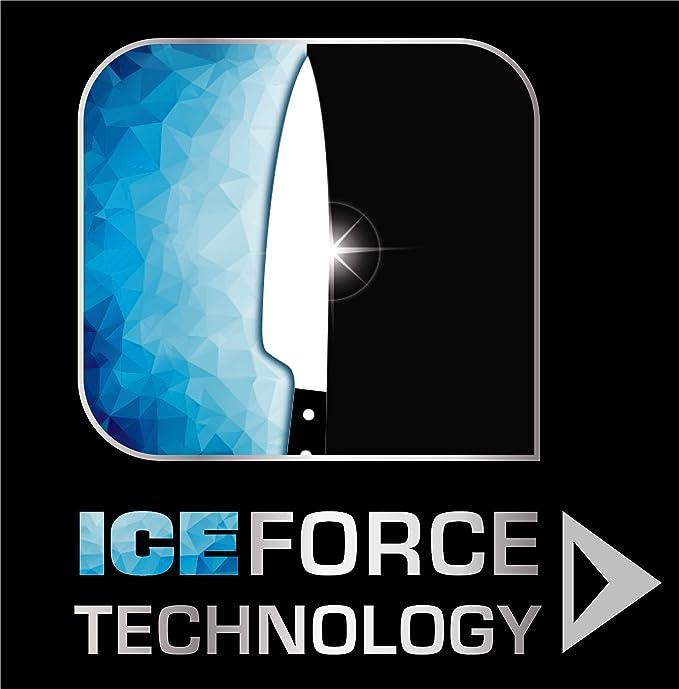 Tefal Ingenio Ice Cuchillo pelador Curvado, Acero Cepillado, Negro, 7 cm