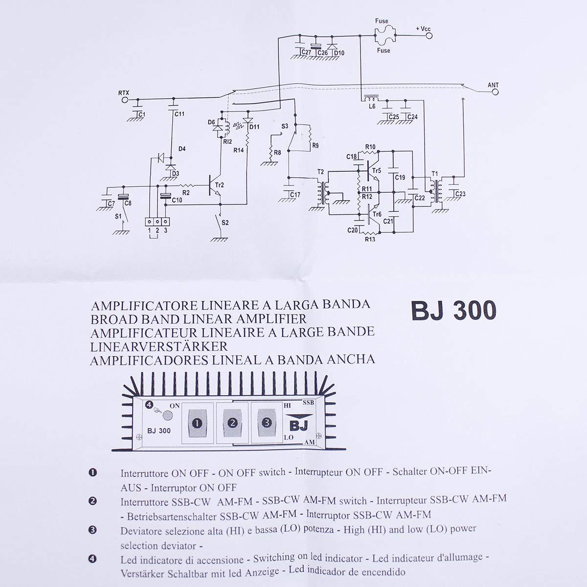 BaoJie BJ-300 HF Two Way Radio Power Amplifier for FM- AM-CW-SSB Working Mode CB Radio with a Mini Fan