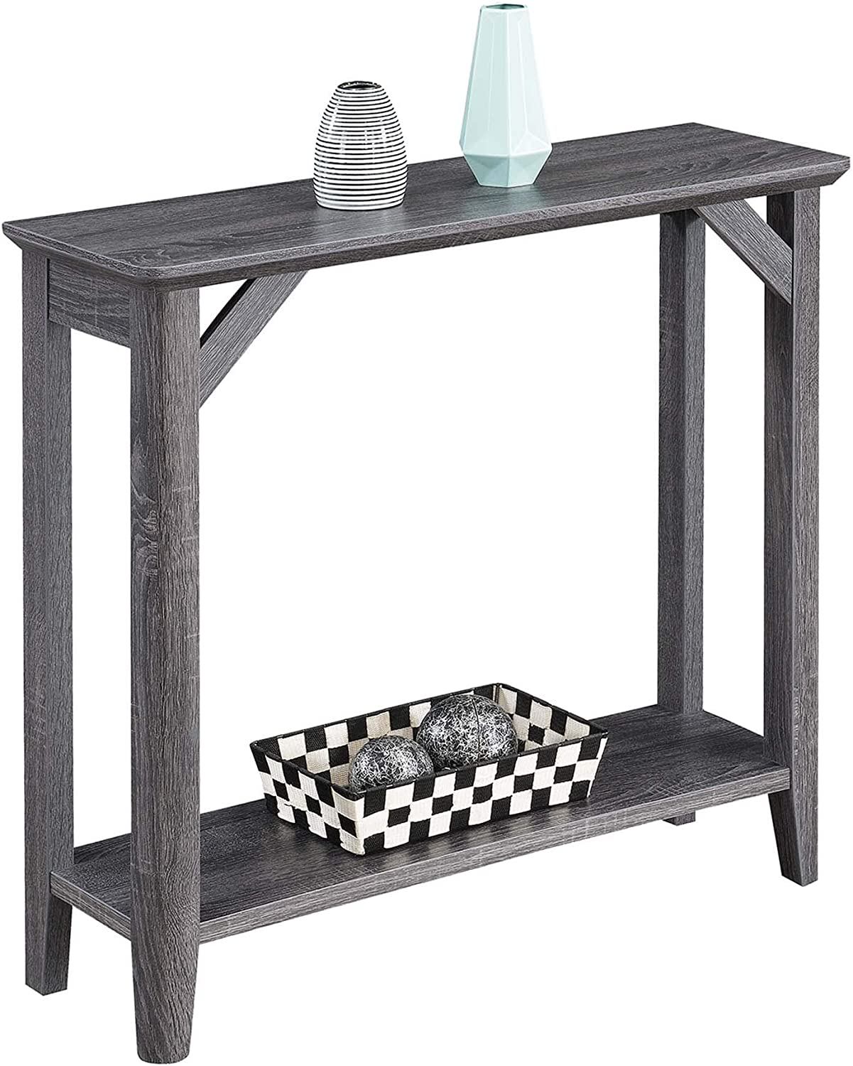 Convenience Concepts Winston Hall Table, Weathered Gray
