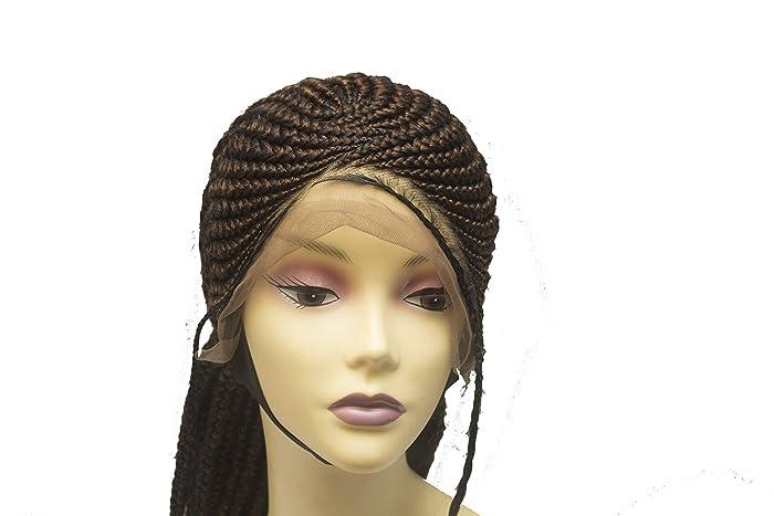 c37e4c526be Amazon.com: Cornrow Braided Wig For Black Women Lace Front Braided Wig Box Braid  Wig: Handmade