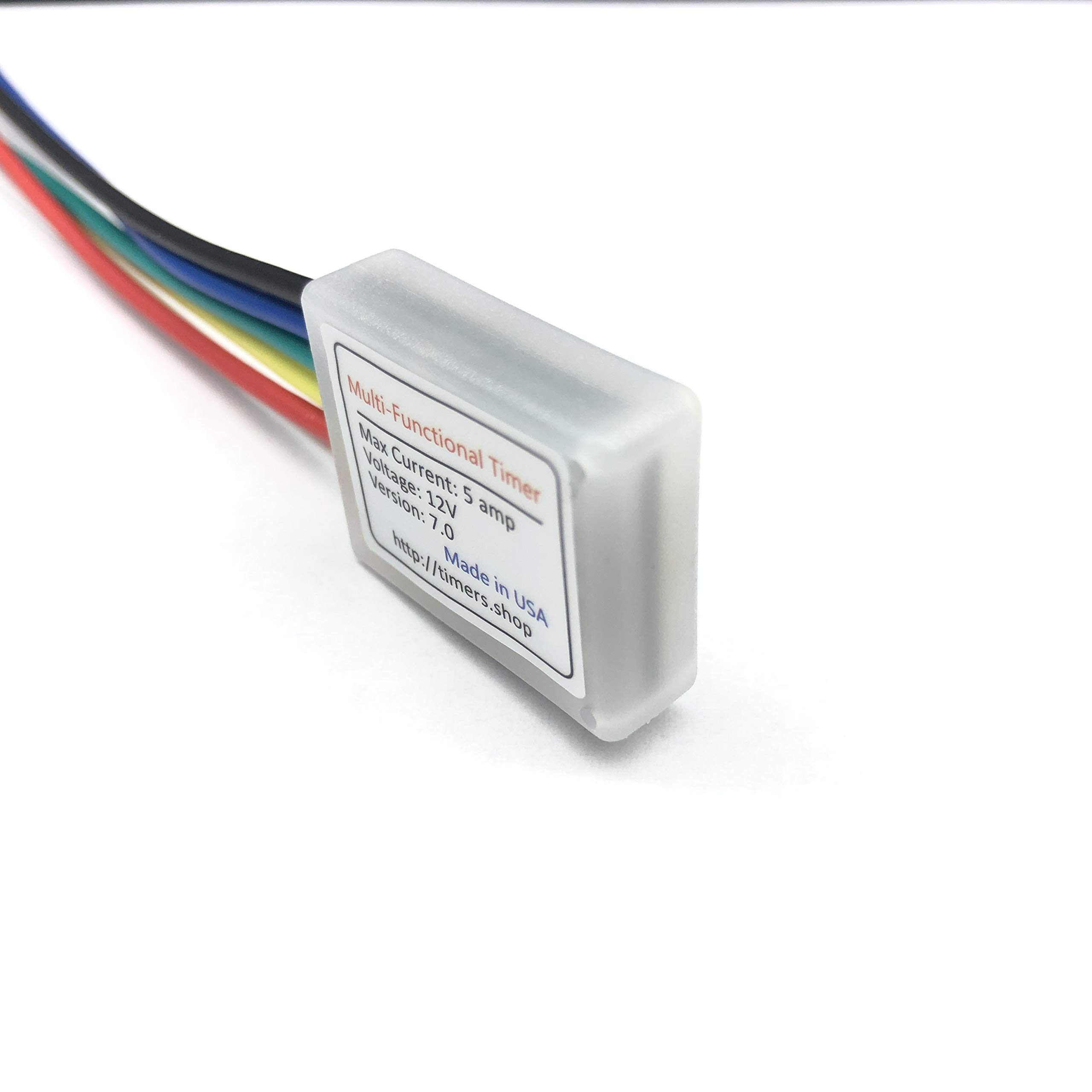 Small Timer Time Delay Relay .1 Sec to 400 days. 6V 12V 18V 5A. Power on or Off Delay, Cycling and More by Timers.Shop