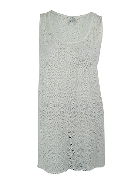 49ad2ffa40615 Profile by Gottex Women's Plus Size Lace High Low Dress Cover Up Ivory 3X