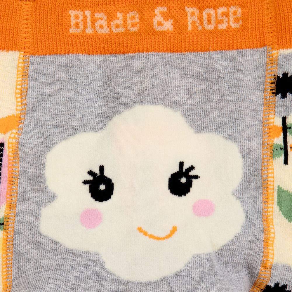Blade /& Rose White Talla:0-6 meses Leggings para la cara de la flor Grey Orange