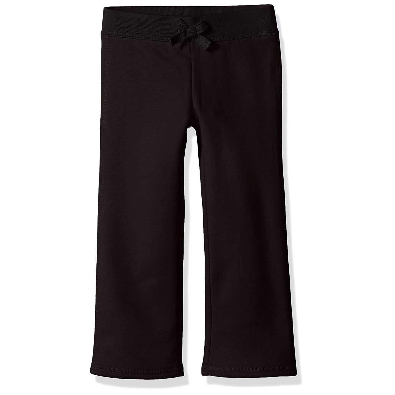 French Toast School Uniform Girls Fleece Sweat Pants, Black, X-Large (14/16)