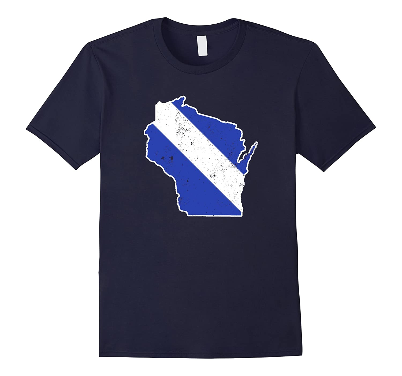 Wisconsin EMT Paramedic Thin White Line Flag Shirt-TD
