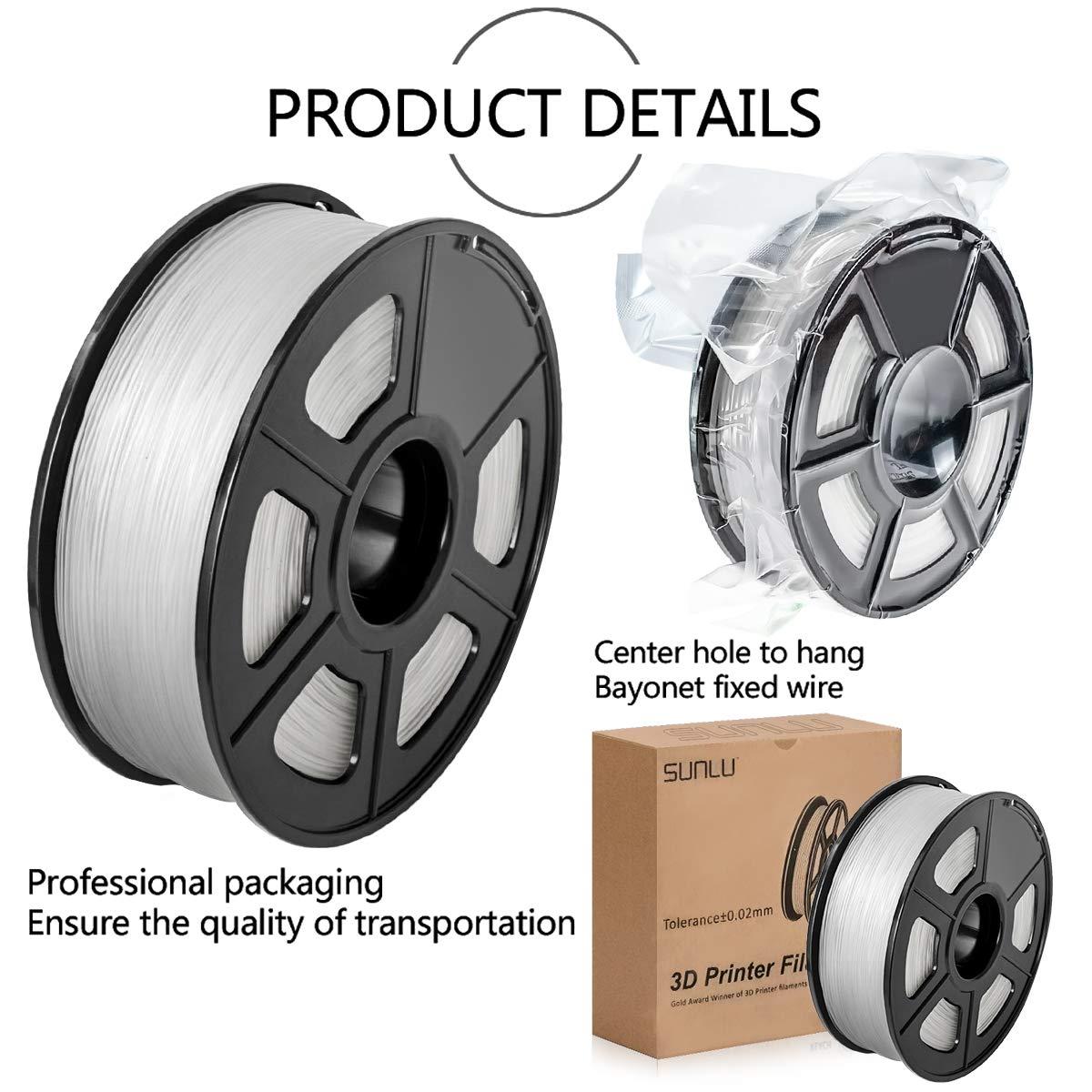 1kg SUNLU 3D Printer Filament ABS Blue 1.75mm ABS 3D Printer Filament 3D Printing Filament ABS for 3D Printer