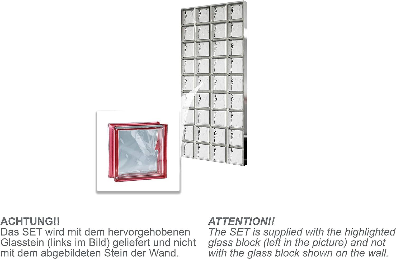 Bloques de vidrio mamparas de ducha JUEGO COMPLETO 78x175,5 cm ...