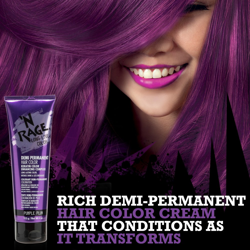 Nrage Brilliant Demi Permanente Hair Color Purple Plum 4 Ounce