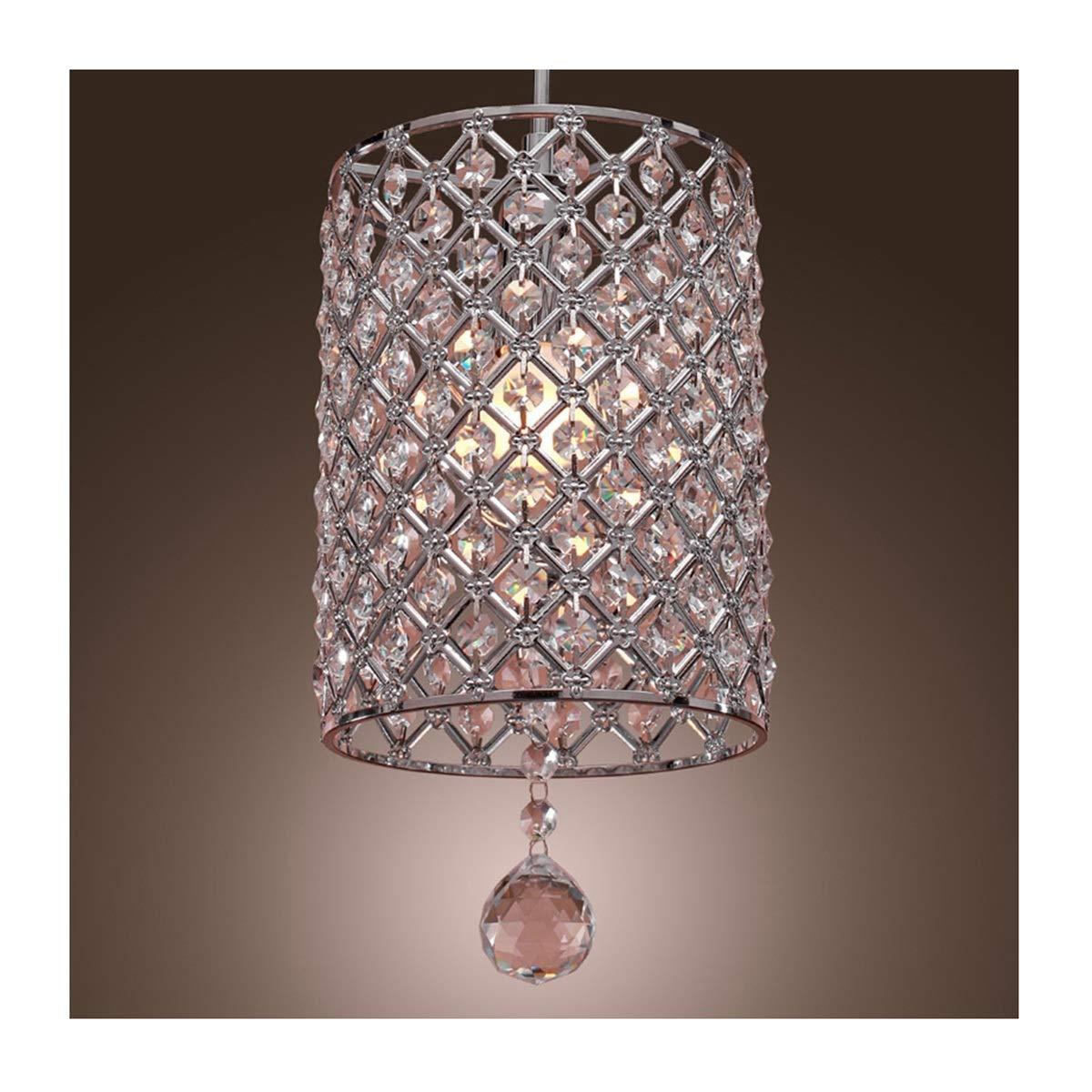 NIUZIMU Kronleuchter zeitgenössische Kronleuchter Crystal Drop Pendelleuchte im Zylinder Stil