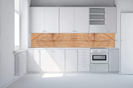 Protector de pared de cocina de vidrio templado de 6 mm para pared posterior de madera, 45 x 270 cm: Amazon.es: Hogar