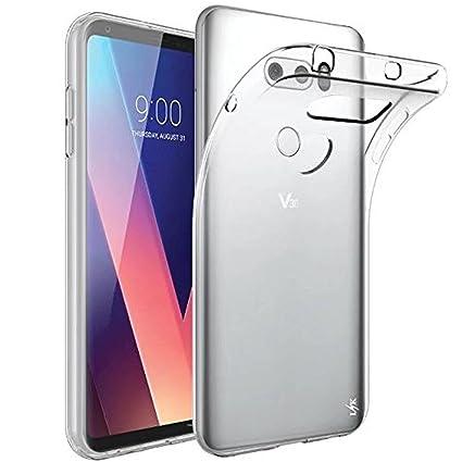 Funda LG V30s ThinQ/LG V30/LG V30s+ ThinQ transparente,COOKAR Funda protectora transparente ultra delgada de silicona para la carcasa del LG V30s ...