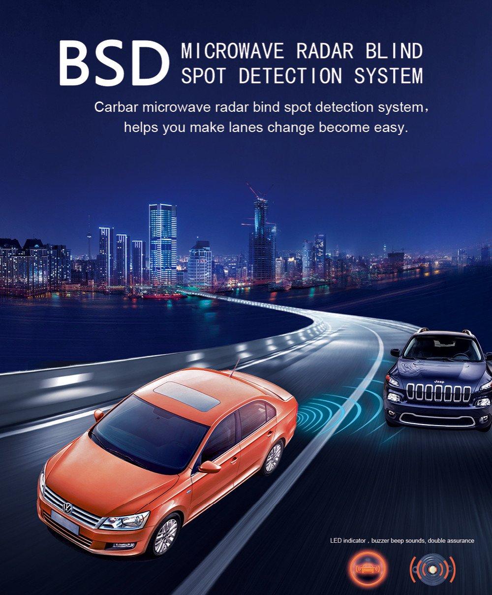 Amazon.com: CarBest Radar Based Blind Spot Sensor and Rear Cross Traffic Alert System, BSD, BSM, Wave Radar Blind Spot Detection System: Car Electronics