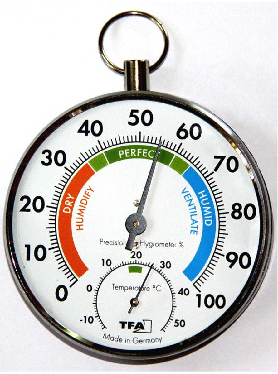 Hygromètre de précision Klimatest noir/chrome 45.2027.JM