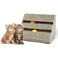 Mumoo Bear Cat Scratch Pad, Scratcher with Catnip,Scratching Posts, Cat Toy Scratch Board Lounge with Bell-Ball