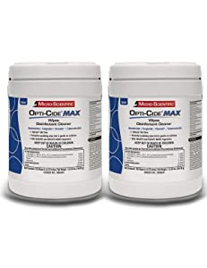 Micro-Scientific Opti-Cide Max Disinfecting Wipes (2 Pack) - 320 Wipes - Medical Grade Disinfectant Cleaner