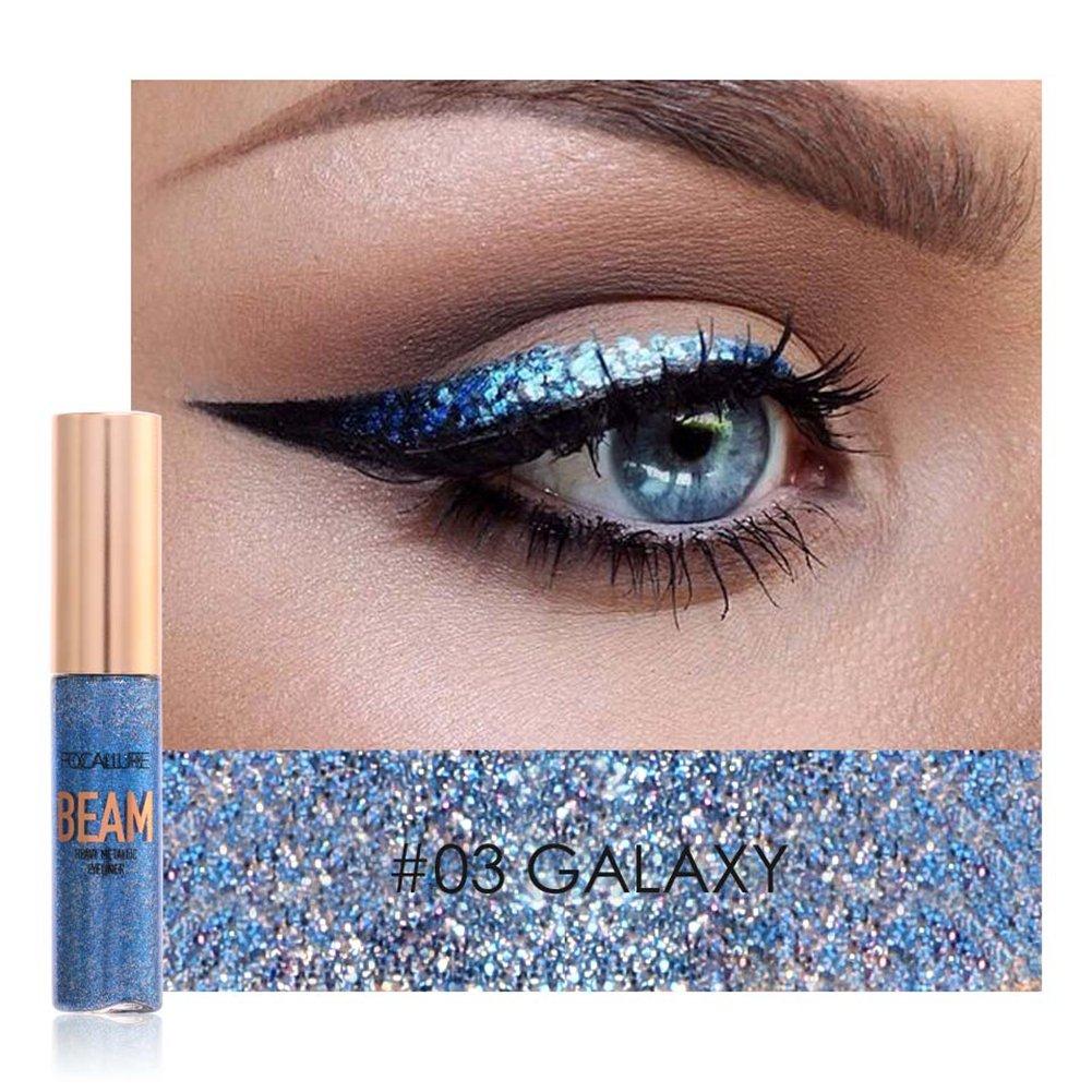Oshide Eyeliner Glitzer 5 Farben Liquid Lidschatten Schimmer Pigment Metallic Liquid Glitters Eyeliner 1#
