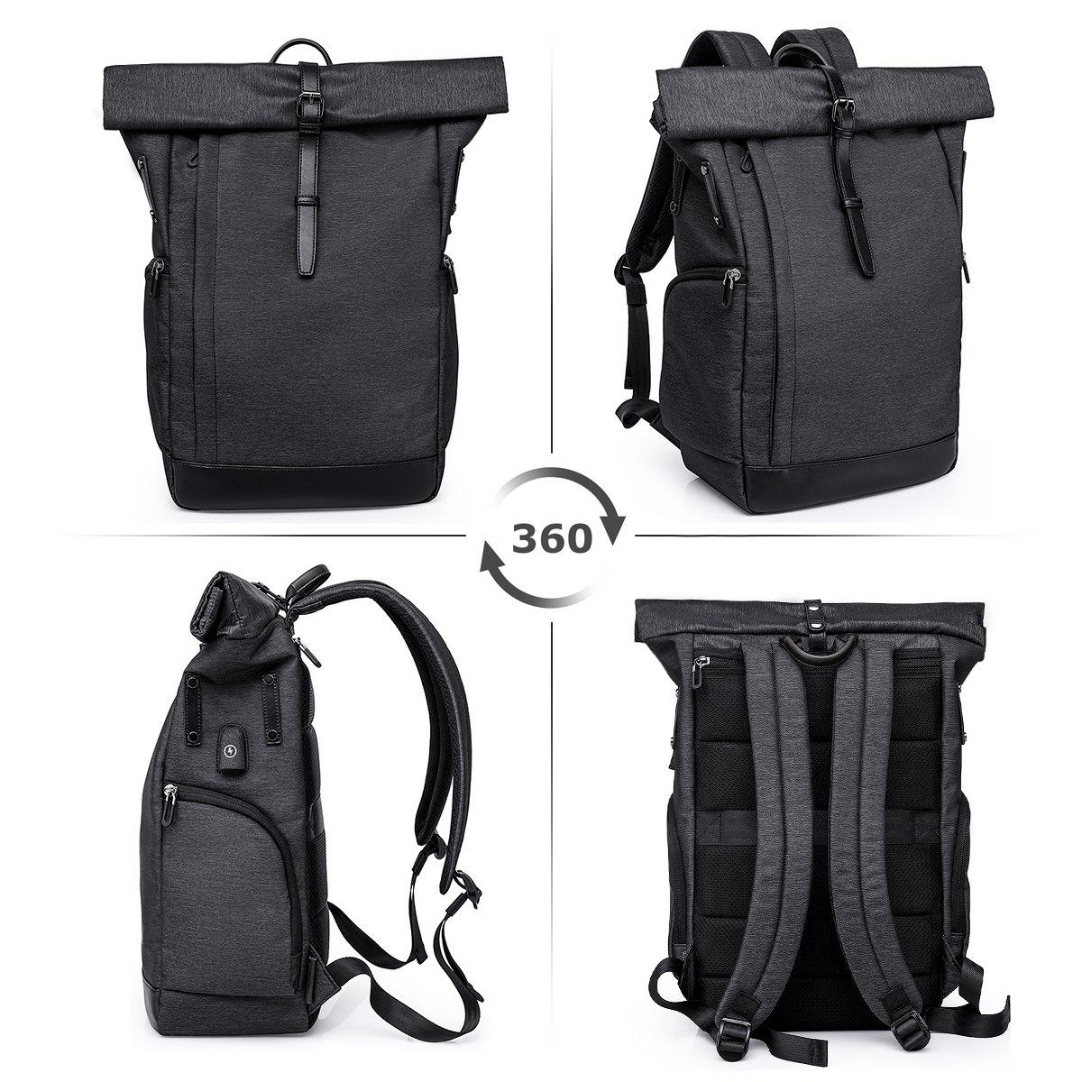 Anti-Theft Tasche Daypack Mode Rucksack Frauen Laptop Rucksack Damen Herren Wasserabweisend Schulrucksack M/ädchen Teenager Schulranzen Jungen Roll Top Rucksack mit USB fur 15.6 Zoll Notebook