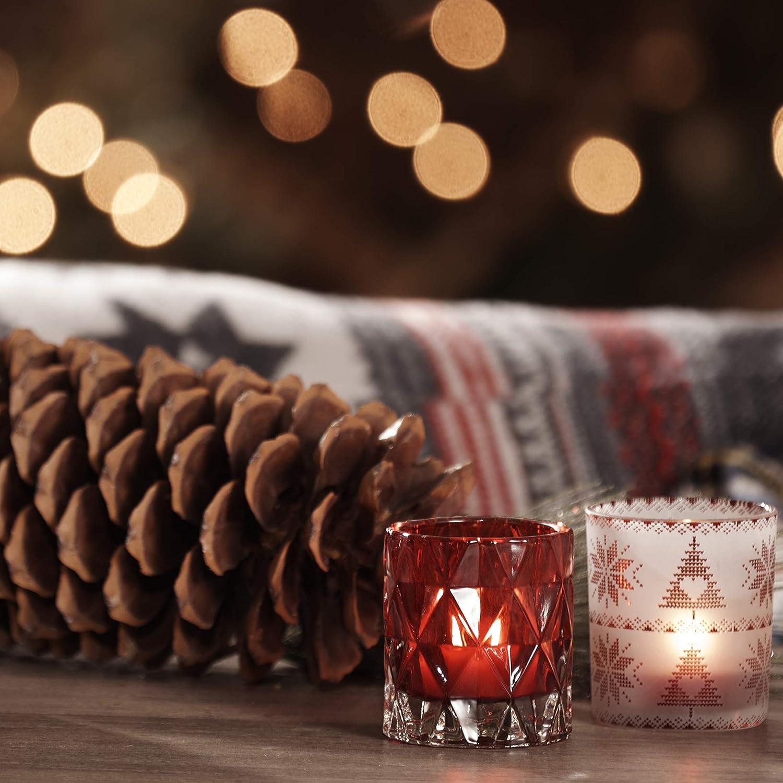Yankee Candle Corona de Manzanas Rojas Velas de T/é Arom/áticas Paquete de 12 Unidades Rojo 9.1x8.8x6.3 cm