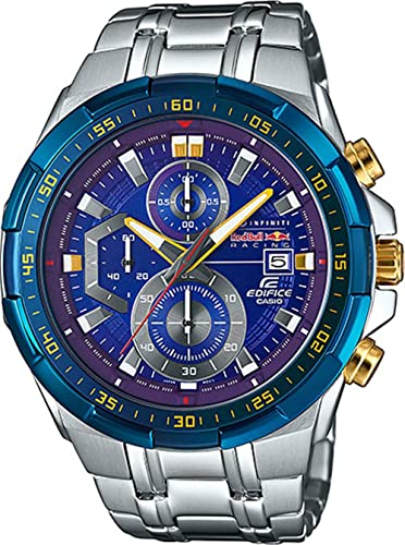 8f24eb66f095 Casio Edifice Red Bull Racing Limited efr539rb-2adr Azul con baño de iones  100 m WR  Amazon.es  Relojes