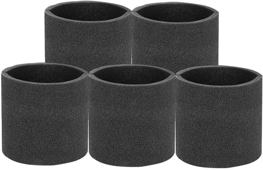 Antenors 5 Pack VF2001 Foam Filter for Wet Dry Vacuum Cleaner, Multi-Fit Wet FiltersFits Most Shop-Vac, Vacmaster & Genie Shop Vacuum Cleaners, Foam Sleeve Black Compare to Part # 90585 & 9058500