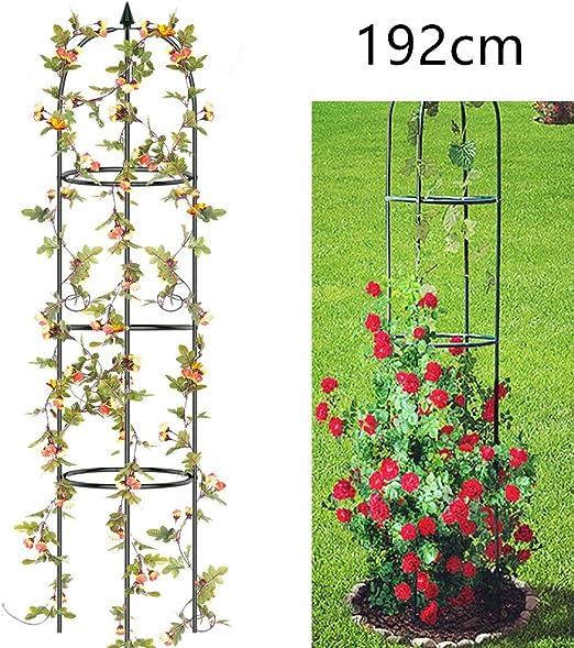 Qulista Jardín Rank Ayuda Obelisco Pepino Torre 192 cm Alto Metal ...