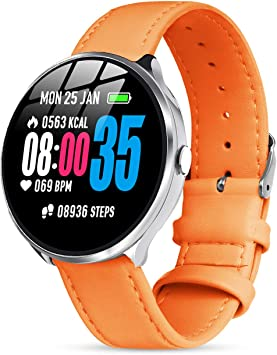 Smartwatch Mujer, Impermeable Reloj Inteligente Elegante Monitores ...