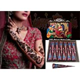Amazon Price History for:Henna Body Paints Tattoos Cones Temporary Tattoo for Girls,women Necklace,bracelets Patterns