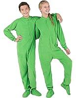 Amazon.com: Footed Pajamas - Emerald Green Adult Fleece: Clothing