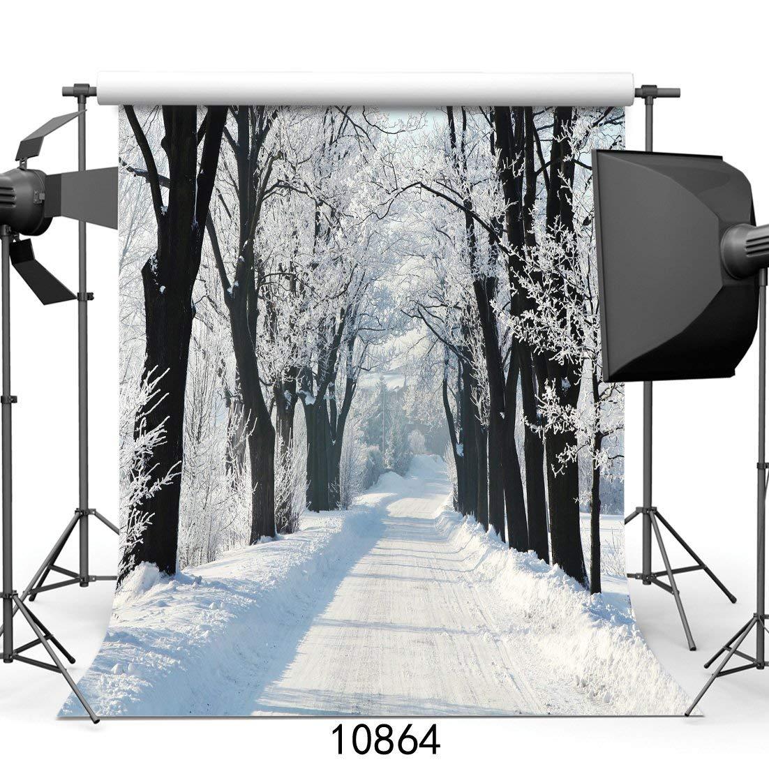 SZZWY 10x10フィート 白雪の背景 写真 白雪の結晶の木 冬の背景 子供用 写真背景 10864   B07L5TK1KQ