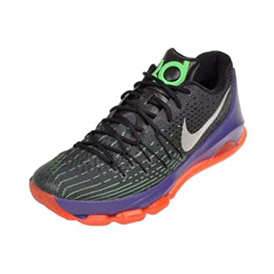 separation shoes 70965 1a6cf Nike KD 8 Mens Basketball Shoes (7 D(M) US, Black White-Green Shock-Hyper  Orange)  Buy Online at Low Prices in India - Amazon.in