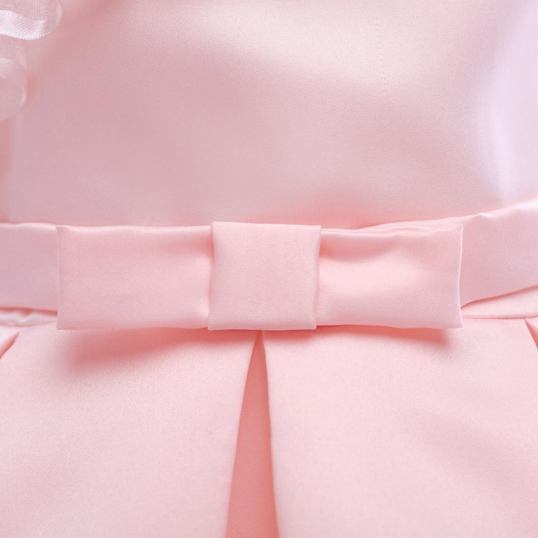 Amlaiworld Sommer Baumwolle bunt Flickwerk Blumen Prinzessin Kleider /Ärmellos blusen Bowknot Mode Hochzeit Dress M/ädchen Gem/ütlich Party Oberteile Kleid,2-8 Jahren alt
