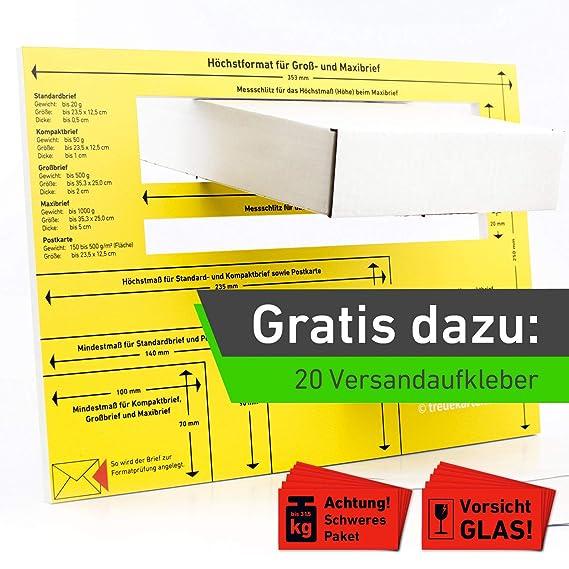 Briefschablone 3mm Hartschaum Postschablone Formatschablone