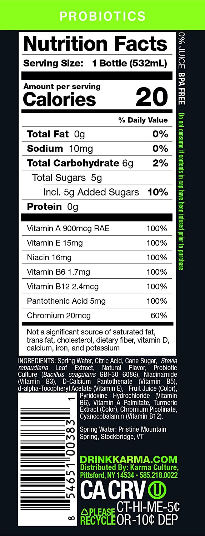 Karma Wellness Agua con sabor: Amazon.com: Grocery & Gourmet ...