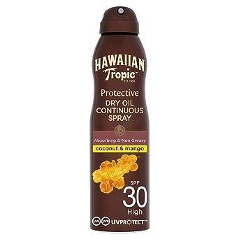Hawaiian Tropic Protective Bruma Aceite Seco SPF 30 - Aceite ...