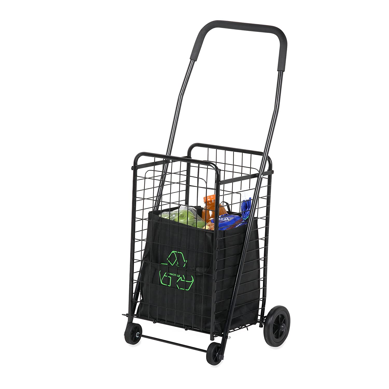 Charmant Amazon.com: Honey Can Do CRT 01511 Medium Folding Shopping Cart Rolling 4  Wheel Utility Wagon, Black: Home U0026 Kitchen