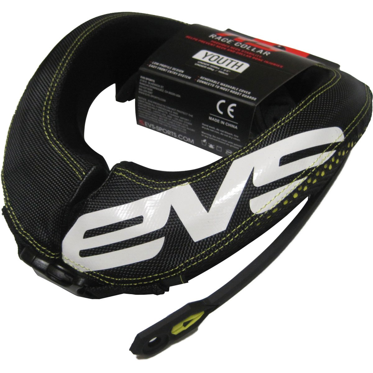 EVS RC3 Youth Race Collar MX/Off-Road/Dirt Bike Motorcycle Body Armor - Black / One Size by EVS