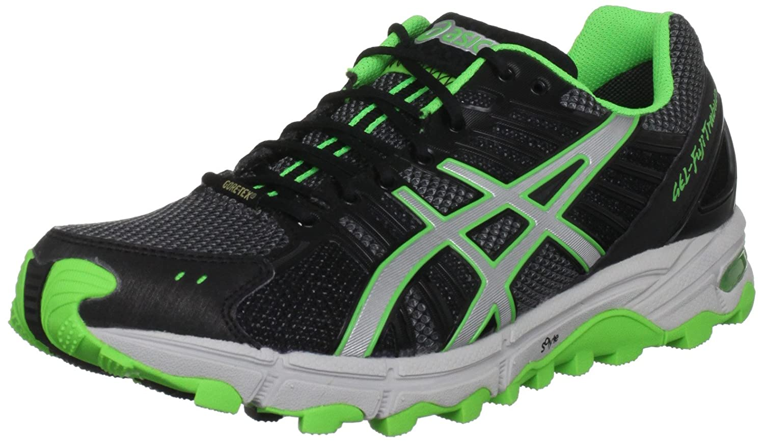 Amazon.com | ASICS Mens Gel Fuji Trabuco Neutral G-Tx Titanium/Silver/Neon Green Trainer T2C0N 9793 7.5 UK | Trail Running