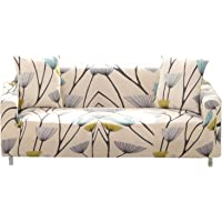 Bikuer Printed Sofa Cover Stretch Couch Cover Sofa Slipcovers for 3 Cushion Couch with 2 Free Pillow Cover(Sofa…