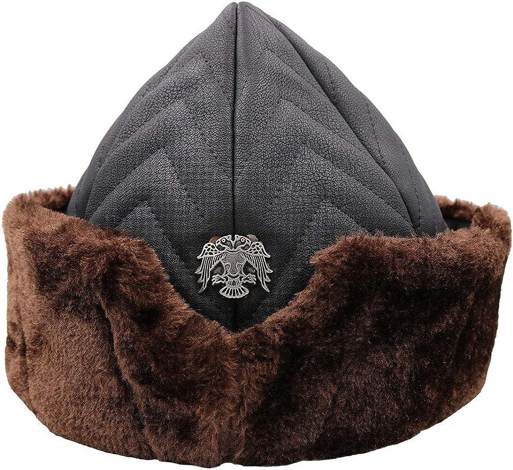 Modefa Yasir Boy Child Size Turkish Ottoman Bork Hat Ertugrul Dirilis Kurulus Osman Fur Leather #2022CHILD