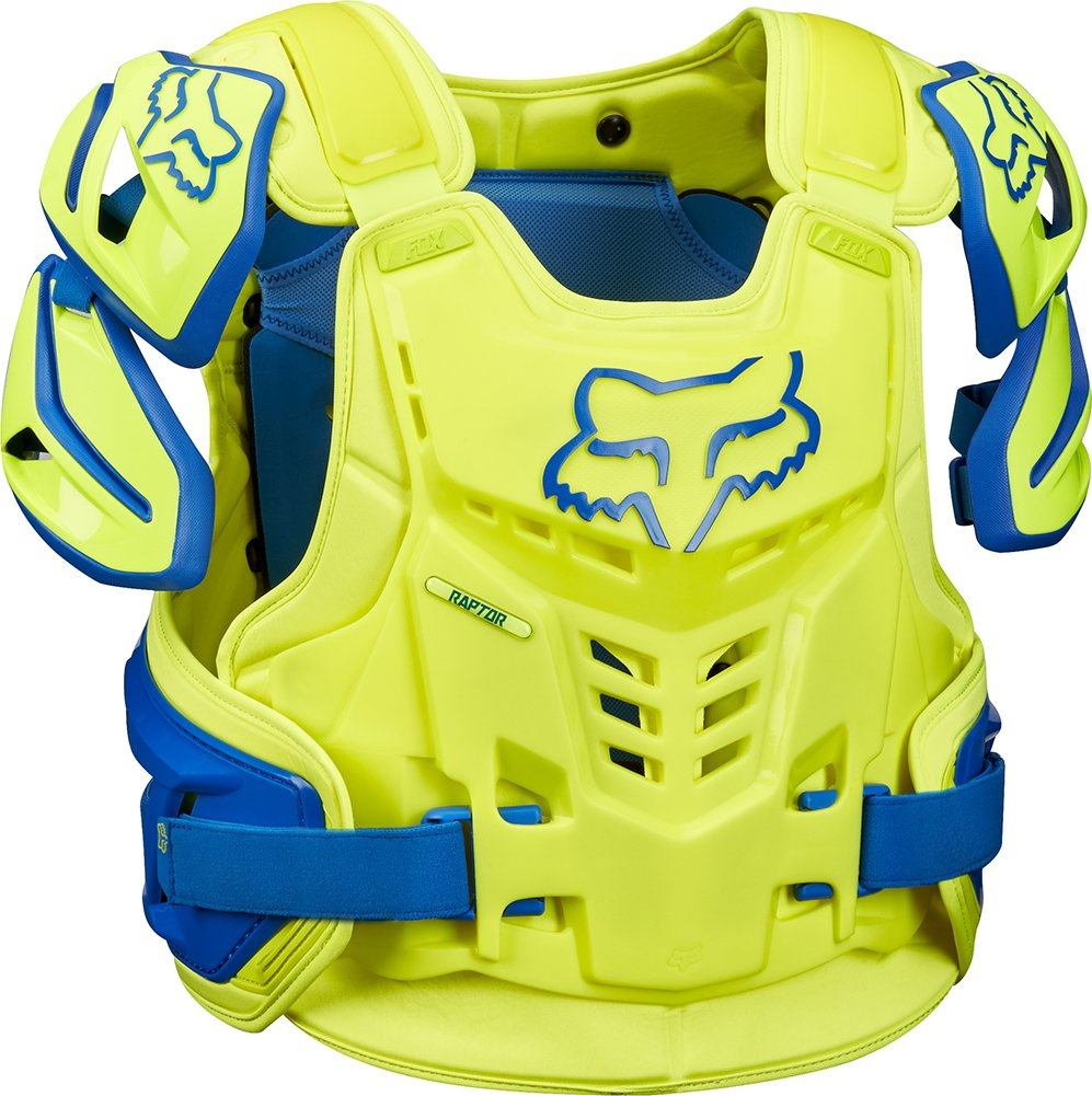 Fox Racing Adult Raptor Vest-Blue/Yellow-S/M