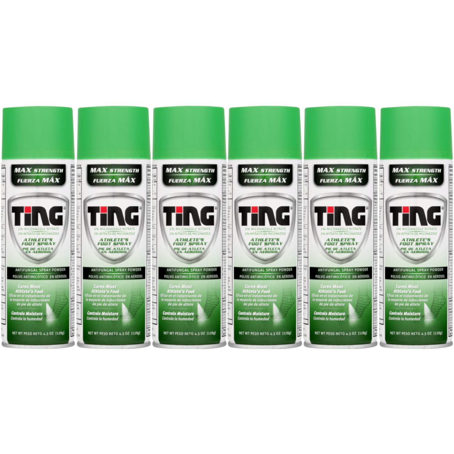 Ting Maximum Strength Athlete's Foot Spray, 4.5 Ounces each (Value Pack of 6) by Ting