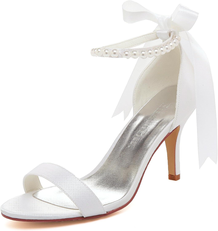 Elegantpark HC1620 Femme Escarpins Dendelle Bride Cheville Ferm/é Toe Talon Bas Chaussures de Mari/ée Mariage
