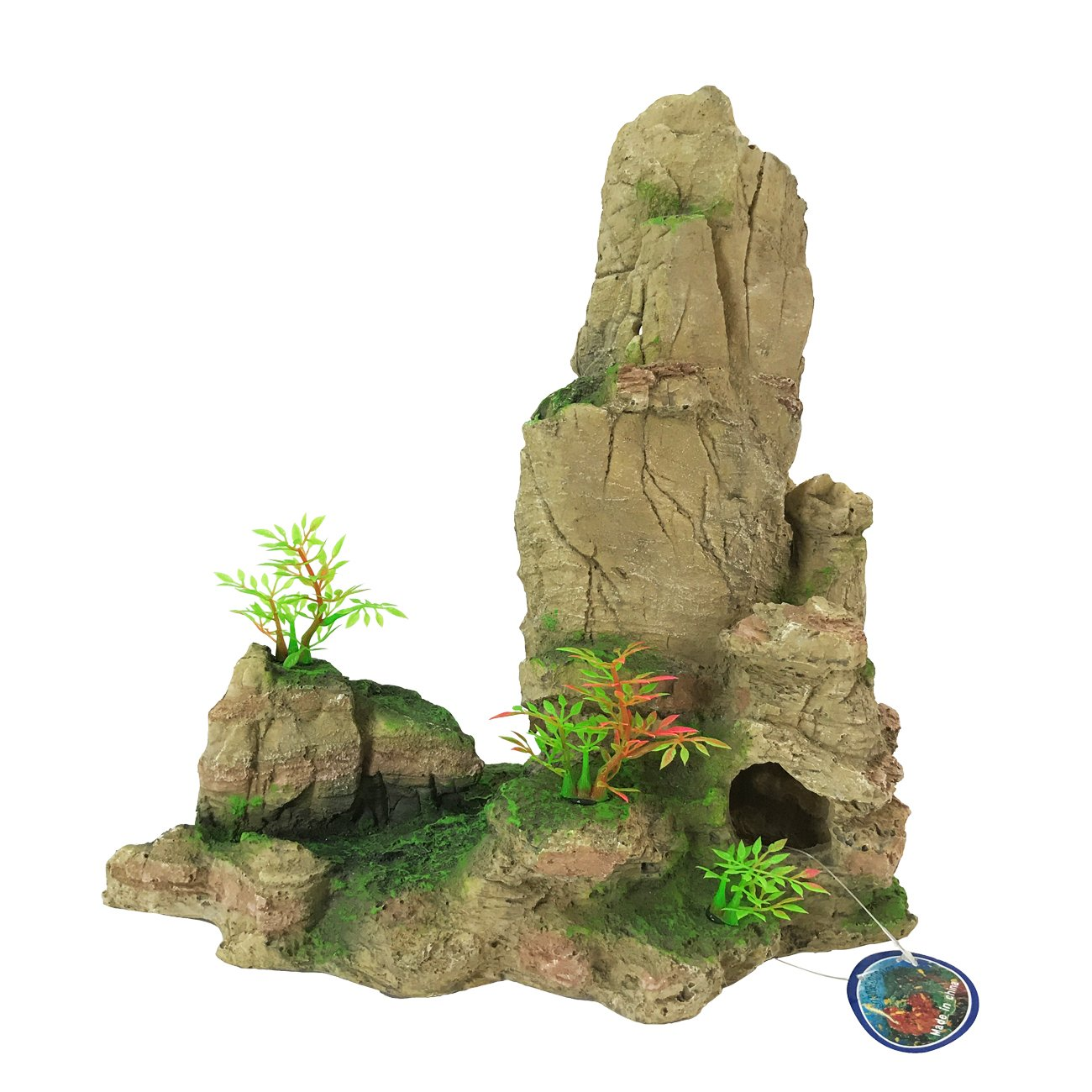 Saim Aquarium Artificial Mountain Cave Ornament Aqua Landscape Fish Tank Decorations
