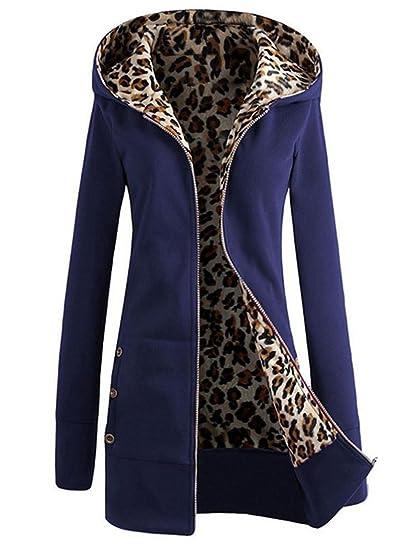 Manteau Capuche Zip Mi Long Veste Pull Coat À Femme Épaise Eq7UHxwHI