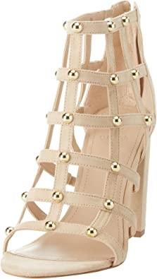 Guess Footwear Dress Shootie, Zapatos de tacón con Punta Abierta para Mujer