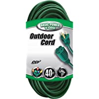 Coleman Cable 16/3 Vinyl Landscape Outdoor Extension Cord, 40-Foot